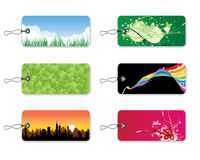 Natural Idea Bookmarks. Six Bookmarks with green concept idea Stock Images