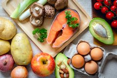 Free Natural Ingredient Vegetable Food With Mix Fruits For Healthy Meal, Raw Freshness Nature Vegetables Preparation For Cooking Food Royalty Free Stock Photos - 156881598
