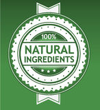 Natural Ingredients Badge. Classic lookg natural ingredients badge Stock Illustration