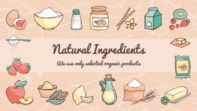 Natural ingredients banner Royalty Free Stock Images