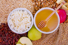 Natural ingredients for a breakfast Royalty Free Stock Image