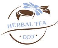 Natural ingredients, fresh herbs tea emblem logo template. Natural ingredients, fresh herbs tea emblem logo template  illustration Stock Illustration