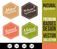 Natural Ingredients Logo Badge and Emblem Stock Image