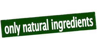 Only natural ingredients Royalty Free Stock Images
