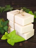 Natural Ingredients Soap Vertical stock images