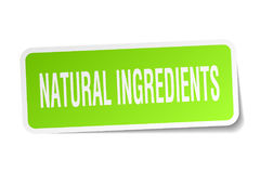 Natural ingredients square sticker Royalty Free Stock Photos