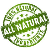 Natural ingredients stamp vector illustration