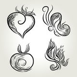 Natural ink line art Royalty Free Stock Images