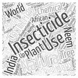 Natural Insecticide and the Third World word cloud concept word cloud concept  background Stock Images