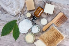 Natural items for a zero waste bathroom