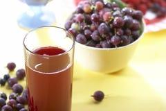 Natural juice. Fresh natural juice with fruit Stock Image