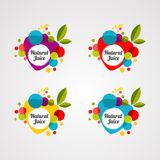 Natural juice logo vector, icon, element, and template vector illustration