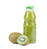 Natural kiwi and bottle of juice. Stock Image