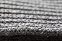 Natural Knitted Wool Background. Texture of striped pattern fabric background Stock Photo