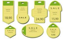 Natural label paper Stock Image
