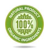 Natural label2. 100 percent natural product sign Royalty Free Illustration