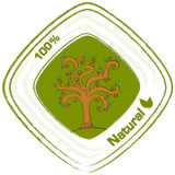 A natural label with a tree Stock Images