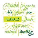 Natural labels set Royalty Free Stock Photo