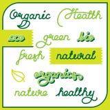 Natural labels set Stock Photo