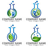 Natural Laboratory Logo Ecology and Environment  Concept Stock Photo