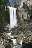 Natural landmark destination Vernal falls Royalty Free Stock Images