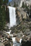 Natural landmark destination Vernal falls. Famous natural landmark destination Vernal falls. Yosemite national park. California. USA Royalty Free Stock Images