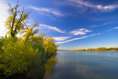 Natural Landscape. Seen from the banks of the river Stock Photos