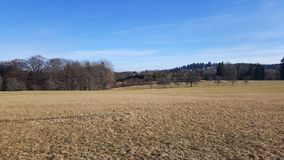 Natural landscape and blue sky in Germany Royalty Free Stock Photos