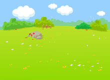 The natural landscape cartoon background Royalty Free Stock Images