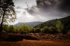 Natural Landscape Caught By The Storm Stock Image