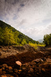 Natural Landscape Caught By The Storm Royalty Free Stock Photos