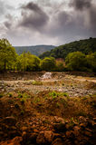 Natural Landscape Caught By The Storm Stock Photos