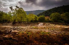 Natural Landscape Caught By The Storm Royalty Free Stock Photography