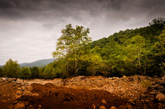 Natural Landscape Caught By The Storm Stock Photography