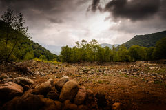 Natural Landscape Caught By The Storm Royalty Free Stock Images