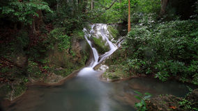 Natural landscape of Erawan Waterfall Royalty Free Stock Images