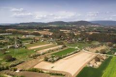 Natural landscape, fields of Frias in Burgos, Castilla y León. Spain. Village of Frías in Burgos, Castilla y León. Spain. Ancient and medieval royalty free stock images