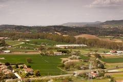 Natural landscape, fields of Frias in Burgos, Castilla y León. Spain. Village of Frías in Burgos, Castilla y León. Spain. Ancient and medieval stock photography