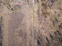 Natural landscape from the height of the drone royalty free stock photos