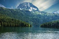 Natural landscape. Mountain lake, Montenegro, Durmitor national Royalty Free Stock Images
