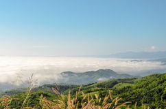 Natural landscape of mountains and sea of mist Royalty Free Stock Image