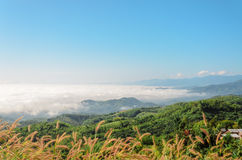 Natural landscape of mountains and sea of mist Royalty Free Stock Photography