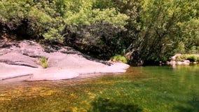 Natural landscape. Pedras River. Galicia. Spain stock video footage