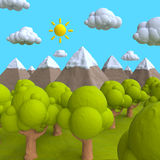 The natural landscape of plasticine or clay Royalty Free Stock Photo