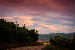 Natural Landscape With Rain Clouds Stock Photography
