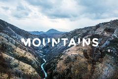 Natural landscape with river canyon in mountains Royalty Free Stock Photography