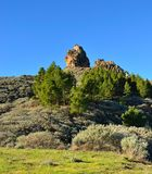 Natural landscape of Roque saucillo, Gran canaria island Royalty Free Stock Photos