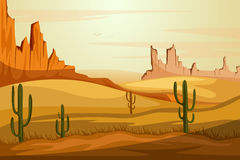 Natural Landscape of sand dune in Desert Stock Images