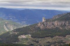 Natural landscape of the Sierra de Segura. Jaén. Natural landscape and village in the Sierra de Segura. Andalusia. Spain Stock Photo