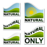Natural landscape stickers Royalty Free Stock Photography